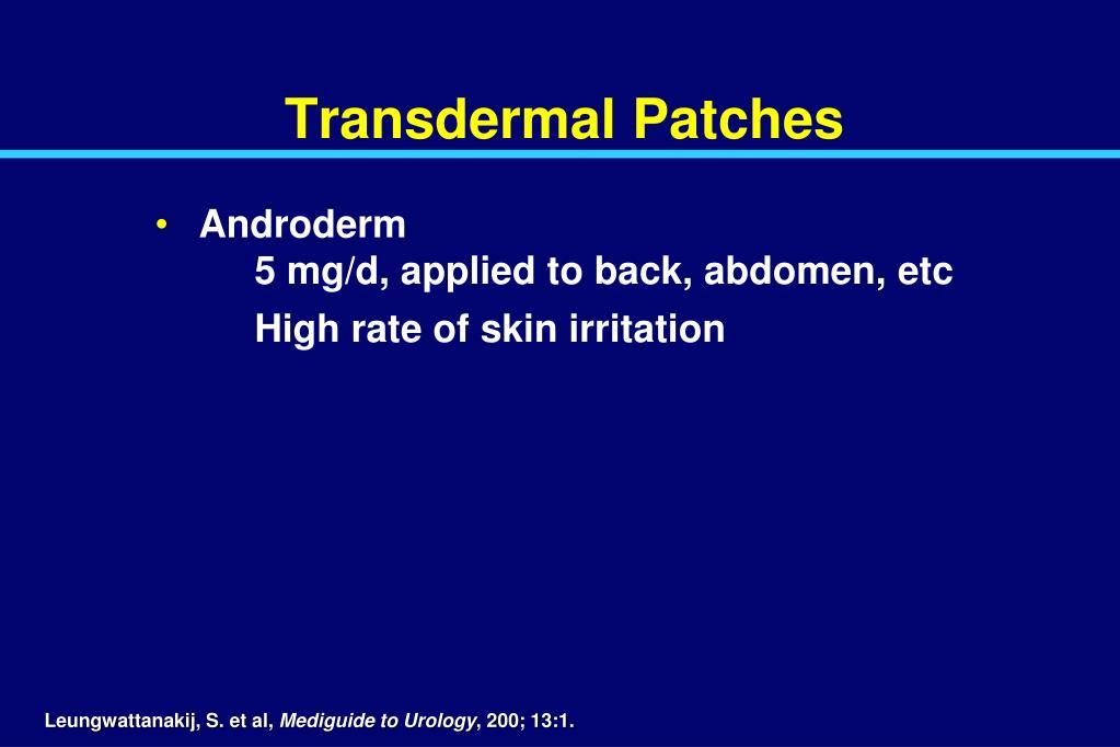 Transdermal Patches