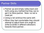 partner skills