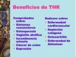 beneficios de thr