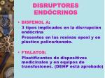 disruptores end crinos