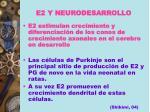e2 y neurodesarrollo