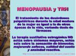 menopausia y trh