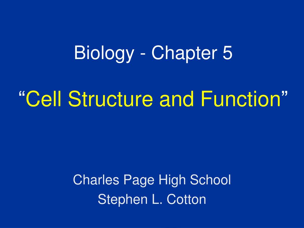 biology chapter 5 cell structure and function l.