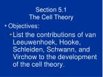 section 5 1 the cell theory