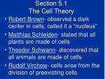 section 5 1 the cell theory6