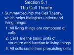 section 5 1 the cell theory7