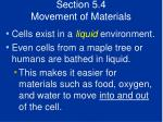 section 5 4 movement of materials38