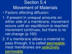 section 5 4 movement of materials40