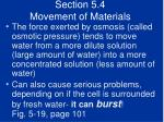 section 5 4 movement of materials42