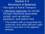 section 5 4 movement of materials48