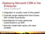 deploying microsoft crm in the enterprise what s different