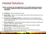 hosted solutions