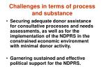 challenges in terms of process and substance
