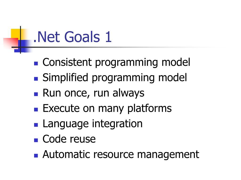 .Net Goals 1