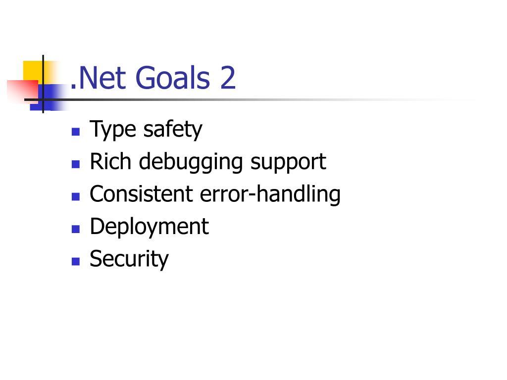 .Net Goals 2