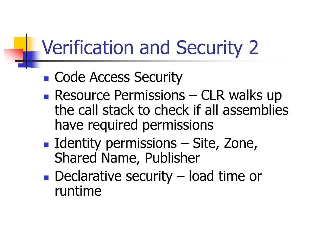Verification and Security 2