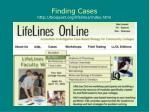 finding cases http bioquest org lifelines index html