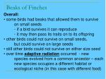 beaks of finches38