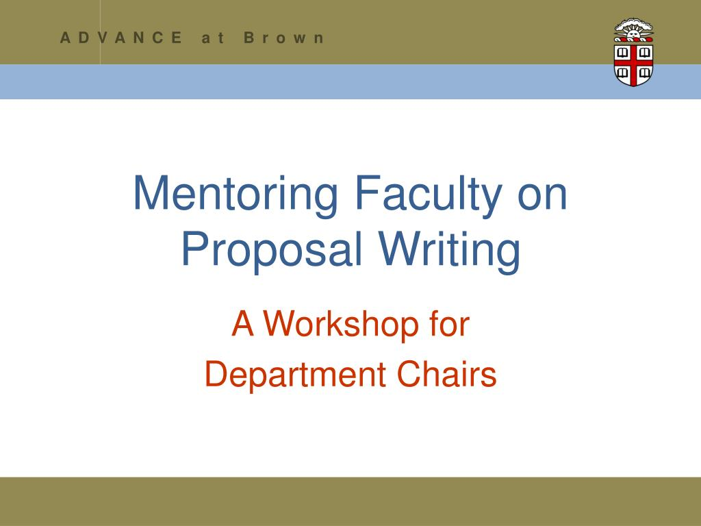 mentoring faculty on proposal writing l.