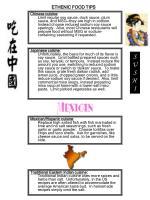 ethenic food tips