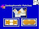 iontophoretic patches