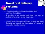 novel oral delivery systems28