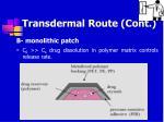 transdermal route cont45
