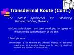 transdermal route cont46