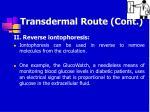 transdermal route cont52