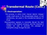 transdermal route cont54