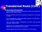 transdermal route cont60
