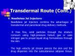 transdermal route cont64