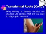 transdermal route cont65