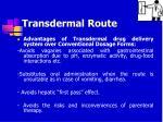transdermal route40