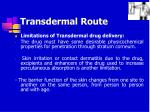 transdermal route42