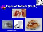 types of tablets cont
