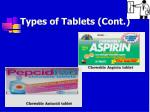 types of tablets cont6