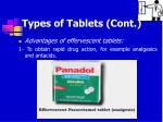 types of tablets cont8