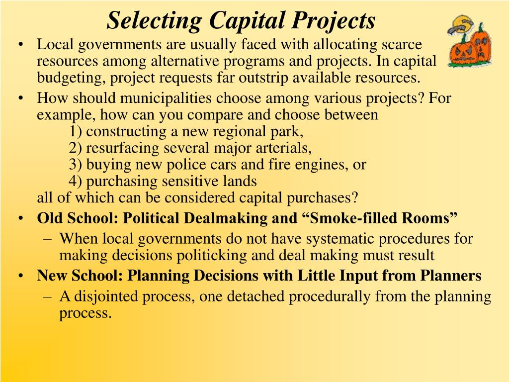 Selecting Capital Projects