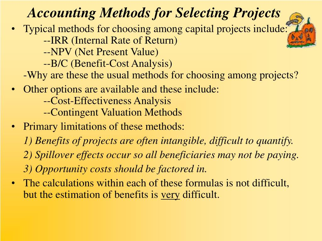 Accounting Methods for Selecting Projects