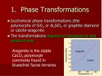 1 phase transformations