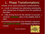 1 phase transformations41