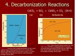 4 decarbonization reactions