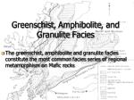 greenschist amphibolite and granulite facies