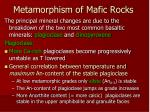 metamorphism of mafic rocks17