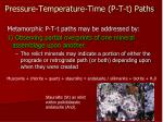 pressure temperature time p t t paths35