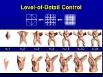 level of detail control