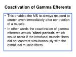 coactivation of gamma efferents6