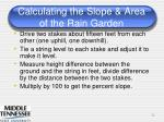 calculating the slope area of the rain garden