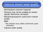 improve stream water quality